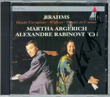ARGERICH Signed BRAHMS Haydn Variations RABINOVITCH CD Sonata for 2 Pianos Waltz