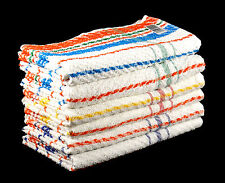 Striped Towels Bath and Hand Cheap Budget Quality 100% Cotton Multicoloured