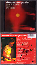 Chick Corea SIGNED Return to Forever where have I known you before CD Al DiMeola