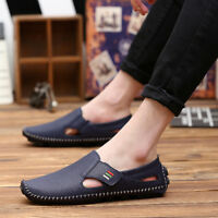 Men's Driving Casual Leather Shoes Lazy Peas Breathable Moccasins Loafers Flats