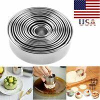 Stainless Steel Round Dumpling Wrappers Mold Dough Cutter Maker Kitchen Tool Set