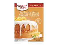 Duncan Hines Signature Perfectly Moist Orange Supreme Cake Mix 15.25 Oz Box NEW
