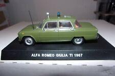 ALFA-ROMEO GIULIA 1300 TI des CARABINIERI.1/43 NEUVE.SOCLE et BLISTER.