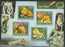CENTRAL AFRICA 2014 LIONS W/ ROTARY INTERNATIONAL SYMBOL  SHEET MINT NH