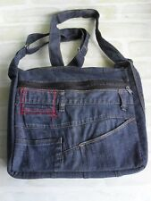 Gorgeous Handcrafted Ladies Washed Out Faded Blue Denim Jeans - Shoulder Bag