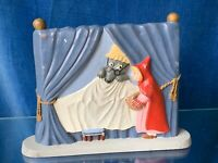 Vintage NORTH CAROLINA made Little Red Riding Hood Big Bad Wolf Statue Doll ❤️m9