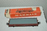 WAGON MARCHANDISE PLAT   DB  MARKLIN  TRAIN/LOCO/CAR BOITE WAGEN TANK 4607