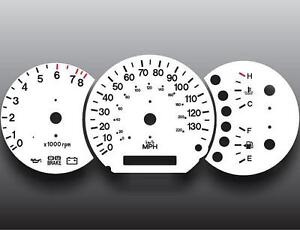 Fits 2004-2005 Kia Sedona Dash Instrument Cluster White Face Gauges