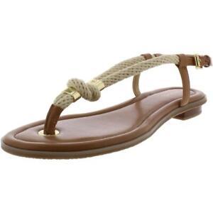 MICHAEL Michael Kors Womens Holly Tan Slingback Sandals 5.5 Medium (B,M) 6910