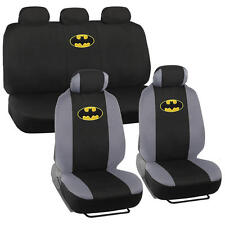 Batman Car Seat Covers Full Set Gray and Black w/ Yellow Logo Full Interior Kit