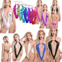Women Babydoll Backless Bodysuit Teddy Lingerie Thong Underwear Monokini Swimwea