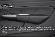 Negro Stitch encaja Honda Civic Type R 06-11 2x Frontal Puerta Tarjeta Trim Lthr cubre