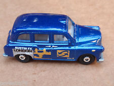 2013 Matchbox AUSTIN FX LONDON TAXI 68/120 MBX Adventure City LOOSE Blue