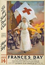 WA102 Vintage WW1 Red Cross Roll Call Recruitment War Poster WWI A1//A2//A3//A4