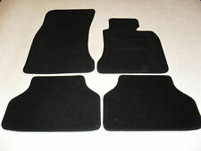 BMW 5 Series E60 (Manual) 2003-2010 Fully Tailored Deluxe Car Mats in Black.