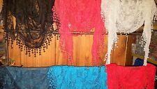 Joblot 20 pcs Mixed color Lace Rose Triangular Scarf  NEW wholesale 175 x 55 cm