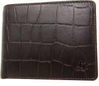 New Visconti Mens Moc Croc Real Leather Wallet RFID Anti fraud Gift Boxed