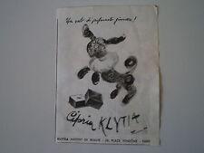 advertising Pubblicità 1947 CIPRIA KLYTIA - PARIS
