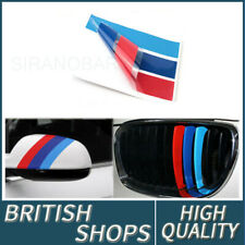 1X Front Grill M Sport Tech 3-Color Stripes Sticker Vinyl Decal Badge For BMW