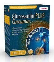 Glucosamine PLUS Curcumin 120 tablets vitamins food supplement diet joints 2 mth