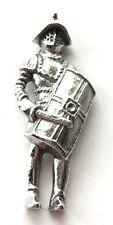 Roman Gladiator Figure Pewter Lapel Pin Badge