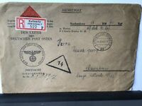Germany 1942 registered Kattowitz Mannheim official stamps cover Ref R28301