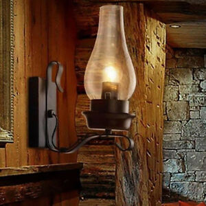 Vintage Wall Lamp Industrial Retro Loft Iron Wall Lights Sconce Lamp Fixture UK