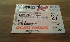 Ticket HSV - VfB Stuttgart , Sammelkarte, Hamburger SV,  Ultras, 95 - 96