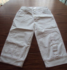 American Girl White Capri Pants Size 8 – Brand New