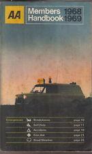 AA Book Automobile Association Members Handbook 1968-69