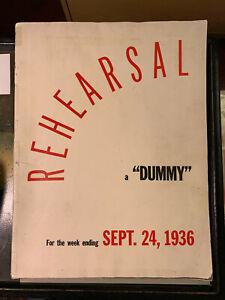 1936 (9/24) Life Magazine Dummy Issue #2 Rehearsal Issue w/Prospectus RARE FR/GD