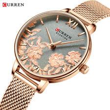 CURREN Watch Women Quartz Luxury Fashion Lady Gift Leather and Steel Strap