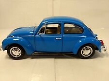 Volkswagen Beetle Bug In A Blue 1:24 Scale Diecast From Welly dc2517