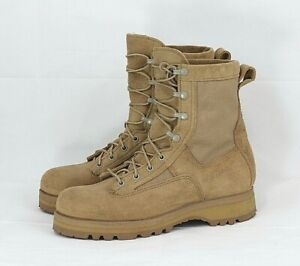 Wellco Army Combat Desert Suede & Canvas Boots Women Size 8.5 N Narrow