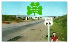 Hi from Shamrock, TX Route 66 Postcard *6L(2)25