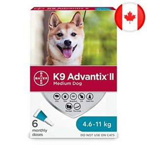 K9 Advantix II Flea and Tick Treatment for Medium Dogs weighing 4.6 kg to 11 kg