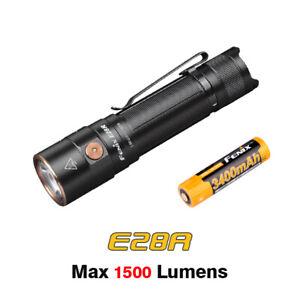 Fenix E28R USB Rechargeable 1500lms EDC Compact Flashlight Torch + 18650 Battery