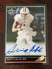 2018 Leaf Ultimate Draft '92 Auto Silver Simmie Cobbs Indiana Redskins #'d 2/15