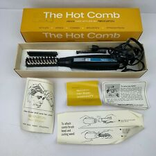 VTG 1968 Remington THE HOT COMB Men's Hair Styler Brush w/ Accessories & Box HTF