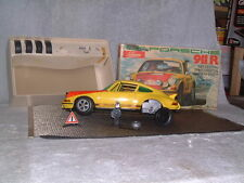 SCHUCO RALLEY PORSCHE 911R, VINTAGE BATTERY OPERATED.1:16 SCALE W/ BOX! WORKING!