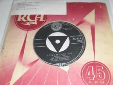 """The Ames Brothers A Very Precious Love b/w In Love 7"""" Vinyl Single 45-RCA 1049"""