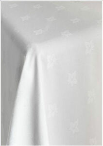 EGYPTIAN 100% COTTON RESTAURANT IVY LEAF WHITE TABLE LINEN TABLECLOTH ALL SIZES