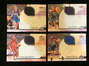 2001 Fleer Feel WNBA the Game JERSEY RELIC  Autographics Pick Your Card