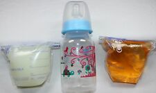 Reborn Doll Baby Bottle Fake Formula Milk & Bag Faux Apple Juice OOAK Set
