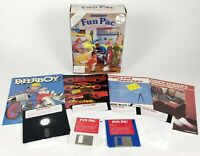 HeadStart Fun Pac IBM PC Accolade Test Drive Paperboy  5.25 floppy 3.5 disc