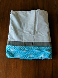 Turquoise Gray and White Queen Bed Skirt for Mod Elephant Bedding Sets by Sweet