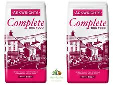 2x 15KG BAGS ARKWRIGHTS BEEF COMPLETE DRY DOG FOOD BISCUITS BULK BUY 30KG