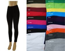 WOMEN COTTON SPANDEX MISSES N PLUS FULL LENGTH LEGGINGS GYM YOGA 20 COLORS S-5XL