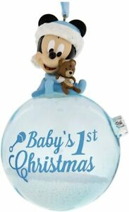Disney Parks Baby's First Christmas Ornament - Mickey Mouse - Blue