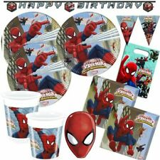 Spiderman Partyset 67 Teile XXL Marvel Partydeko Geburtstag Superhelden Deko Set